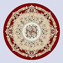 Pastoral Sala de estar clásica china Tabla de café Dormitorio Estudio Mesa redonda Flores cortadas Alfombra ( Color : 2# , Tamaño : Diameter: 160cm )