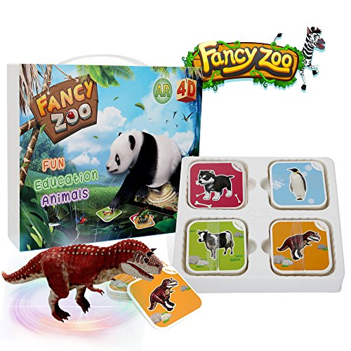 Educational Toys [4D AR VR] Kids Toys Encyclopedia Card Preschool Toys with 68 Magic Animal Cards and 13 Languages Learning by Playing Children Toys for 0-12 Learning Toys perfect for Gift