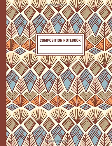 Composition Notebook: Native Tribal Pattern Composition Book For Students College Ruled por Pink Willow Print
