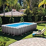 Intex Kit Piscine Ultra Frame 7,32 X 3,66 M X 1,32 m - Tubulaire Métal Ronde -...