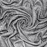 Lorenzo Cana Luxus Wolldecke Wohndecke aus Flauschiger Wolle Cottage Landhaus Decke 100% Wolle Sofadecke Kuscheldecke Schwarz Weiss 130 cm x 200 cm 96218