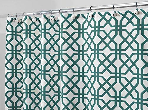 mdesign-fretwork-mold-mildew-resistant-fabric-shower-curtain-183cm-x-183cm-emerald-green