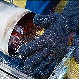 Domewell Grillhandschuhe - (Ein Paar) - Hitzebeständig Bis Zu 500°C - Nach EN407 Zertifiziert - Extra Lang Für Besten Schutz - Ofenhandschuhe - Kaminhandschuhe - 6