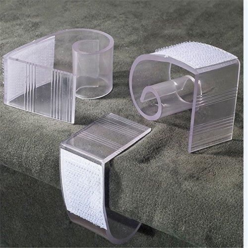 25pcs 3-4.5cm transparente Plastikhochzeitsbankett Tabelle Skirting Clips