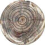 Cuadros Lifestyle 2D-Wandobjekt aus Holz | Holzmuster | Baumstamm | Wandteller | Holzbild | Shabby-Look | Landhaus | Vintage | Holzobjekt | Deko | Holzdruck | Geschenk, Größe:ca. 30x30cm