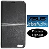 Snazzy Artificial Leather Flip Case Cover for Asus Zenfone Max Pro M1 (Black)