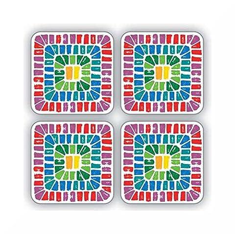 Tisch Untersetzer 4Pack von Cooksmart & inspirierende Magnet Seville