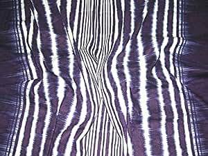 Bleu Tie-Dye Imprimé à rayures en lin et coton John Critère robe en tissu–par mètre