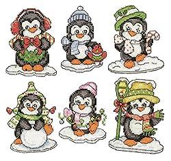 """Design Works """"Penguin Pc Ornaments"""" Plastic Canvas"""