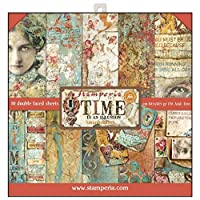 """Stamperia Double-Sided Paper Pad 12""""X12"""" 10/Pkg-Time Is An Illusion, 10 Designs/1 Each"""