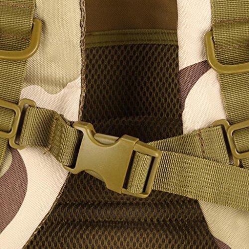 Gazechimp 30L Molle Rucksack Taktischer Erwachsene Rucksack Unisex Schulrucksack Outdoor Reiserucksack Laptop Rucksack Desert Camo