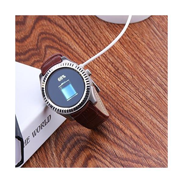 TiooDre Cable de cargador para reloj inteligente, cable de cargador magnético, cargador magnético USB 2.0 a 4 pines para Smartwatch GT88, GT68, KW08, KW18, KW88, KW98, KW99, KW28, FS08, GV68, KW06 3