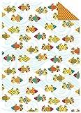 Ursus 13244603 - Fotokarton Fische, 300 g/qm, 10 Blatt, DIN A4, orange