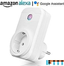 Presa Intelligente ANOOPSYCHE Presa Wifi Spina senza fili per Elettrodomestici Gestione Telecomando Wireless tramite App Android e iOS Compatibile con Amazon Alexa,Google Assistant e IFTTT