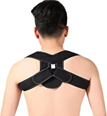 B FIT (USA) Unisex Posture Corrector - Comfortable Upper Back Brace Clavicle Support for Thoracic Kyphosis and Shoulder - Neck Pain Relief