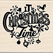 Inkadinkado Christmas Mounted Rubber Stamp, 7cm by 19cm , It's Christmas