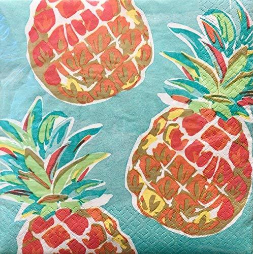Creative Converting Set von 36Luncheon Papier Servietten ~ Tropische Ananas 1371 Luncheon Set