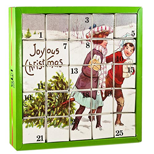 English Tea Shop - Tee Adventskalender Joyous, 25 einzelne Boxen mit würzigen BIO-Tees in hochwertigen Pyramiden-Teebeutel