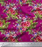 Soimoi mit Blumenmuster Nahtmaterial 58 Zoll breit Baumwoll