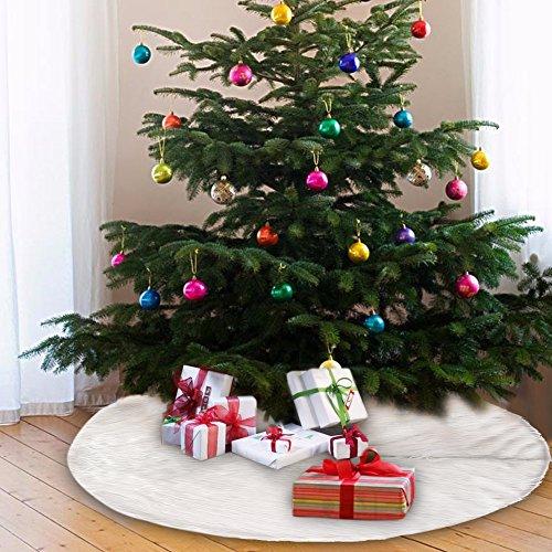 90cm weihnachtsbaum rock wei er pl sch weihnachtsbaumdecke. Black Bedroom Furniture Sets. Home Design Ideas