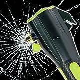 SCHWAIGER -425- Notfallhammer mit Gurtschneider für mehr Sicherheit im Auto (weitere Werkzeuge wie Taschenlampe, Notfall-Lampe, Mini-Powerbank oder Kompass) // Nothammer / Scheibenhammer/ Gurtmesser/ Rescue Tool/ Warnleuchte