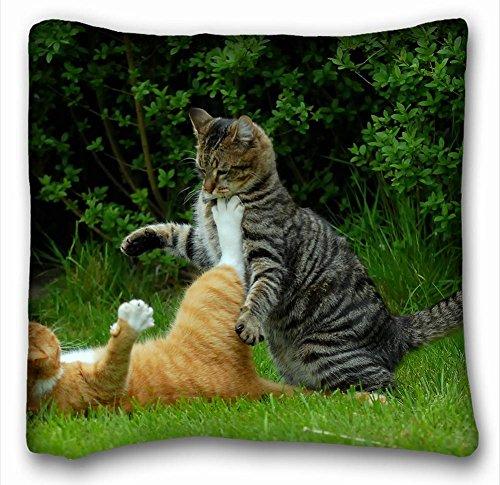 Dekorative Baumwollleinen, quadratisch Tiere Katzen Black Ginger Armbanduhr Korb 45,7x 45,7cm Zwei Seite, Polyester-Mischgewebe, Pattern 8, European (2-tier-korb)