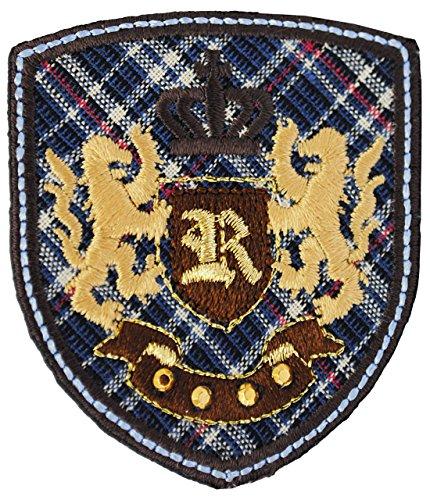 3-stuck-bugelbilder-emblem-orden-kariert-55-cm-62-cm-aufnaher-applikation-3-d-effekten-gewebter-flic