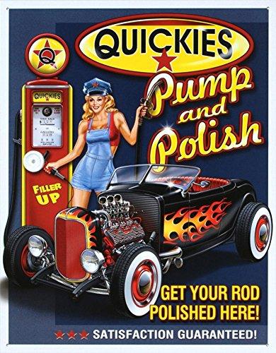 Risque Humor Blechschild Metall: Honest Kitchen Quickies Pumpe & Polish