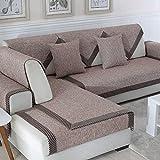 JINGJIE Funda de sofá,Color sólido Tela Protector para sofás Cuatro Estaciones Sofá...