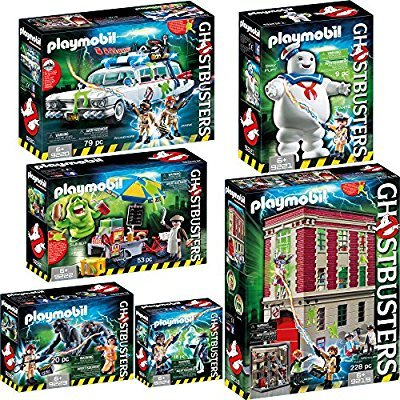 Playmobil Ghostbusters (Cazafantasmas) pack completo de las 6 referencias - 9219 9220 9221 9222 9223 9224