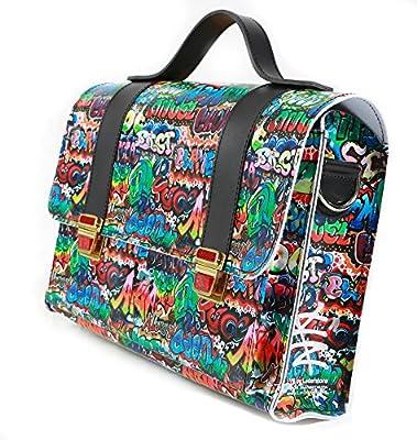 Messenger Bag 'Tornister' LYN by Lederstore Grafitti Edition Vegan Handarbeit Deutschland Business Bag