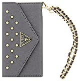 Guess - GUCLTP6LSTS - Studded Collection Etui Folio Rigide pour iPhone 6 5,5' Argent