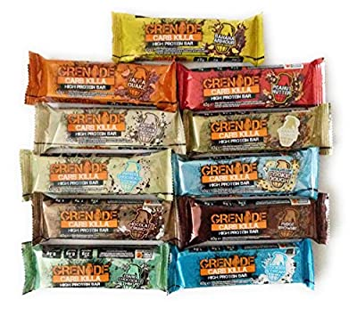 Grenade Carb Killa Protein Bars ALL 11 FLAVOURS - Includes White Chocolate, Cookies and Cream and Jaffa Quake - Treat your taste buds with some variety and sample all the flavours to find your favourite by Misc