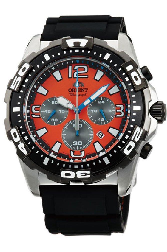 Orient Reloj Cronógrafo para Hombre de Cuarzo con Correa en Caucho FTW05005M0