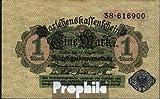 Deutsches Reich Rosenbg: 51d, blaues Siegel 1914 1 Mark (Banknoten für Sammler)