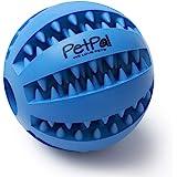 PetPäl Hundeball mit Zahnpflege-Funktion Noppen Hundespielzeug aus Naturkautschuk - RobusterHunde Ball Ø 7cm - Hundespielball für Große & Kleine Hunde - Kauspielzeug aus Naturgummi für Leckerli