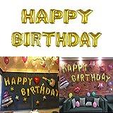 Gold HAPPY BIRTHDAY Buchstaben Ballons für Geburtstagsfeier - 2