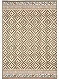 benuta In- & Outdoor Teppich Star Geometrisch Braun 160x230 cm | Pflegeleichter Teppich geeignet für Innen- und Außenbreich, Balkon und Terrasse