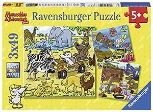 Ravensburger Kinderpuzzle 08042 Abenteuer mit Mauseschlau und Bärenstark