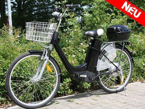 "City Fahrrad Elektro Fahrrad E-Bike 36V Elektroantrieb 250W E-GO!City-1 26\"" Schwarz"