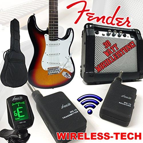fender-squier-bullet-strat-e-della-chitarra-sunburst-wireless-con-30-w-amplificatore-e-sky-plug-wire