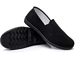 Martial Art/Kung Fu/Tai Chi Shoes Rubber Sole Canvas Shoes Unisex Full Black