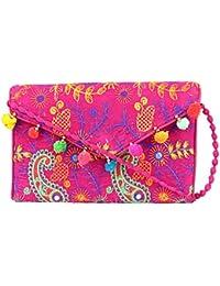 Rajasthani Jaipuri Bohemian Art Sling Bag Foldover Purse - B07FN1MQ9B