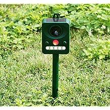 Ruichenxi Ultrasonic Repellente Uccelli piccioni Roditore Gatti Animal Repeller con Sensore PIR deterrente a frequenza variabile