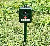 Ruichenxi Répulsif ultrason Repeller animaux oiseau batterie solaire Avec détecteur...
