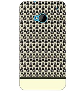PrintDhaba Pattern D-1922 Back Case Cover for HTC ONE M7 (Multi-Coloured)