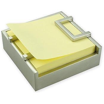 ArtsOnDesk Moderne Kunst Z-Notes Spender st210 Edelstahl Satiniert Patent Beantragt - Haftnotiz Spender Pop-up Notes Dispenser Halter Versorgung Zubehör Veranstalter Urlaub Weihnachtsgeschenk