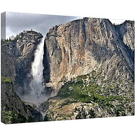 LeeQueen Las Impresiones Sobre Lona Arte de la Pared - Impresionantes Cataratas de Yosemite - Antecedentes Consejo de Madera Estirada Abrigo de la Lona Listo Para Colgar Para el Hogar y la Decoración de la Oficina - 24