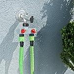 Royal Gardineer Bewässerung Computer: Starter-Set: Bewässerungscomputer BWC-400 mit 2 Schlauch-Anschlüssen (Automatische…
