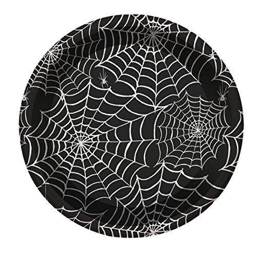Geschirr mit Spinnweben Dekoration - 23 cm - 4 Einheiten (Billige Halloween Dekoration)